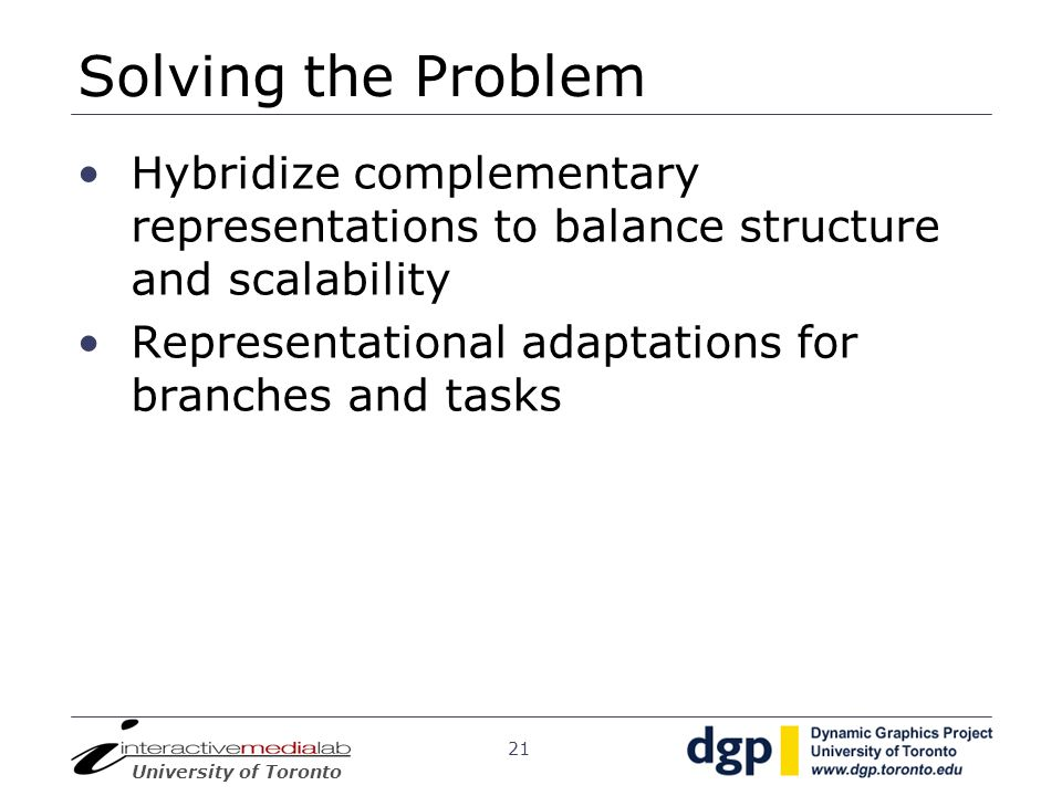 Solving the Problem Hybridize complementary representations to balance structure and scalability.