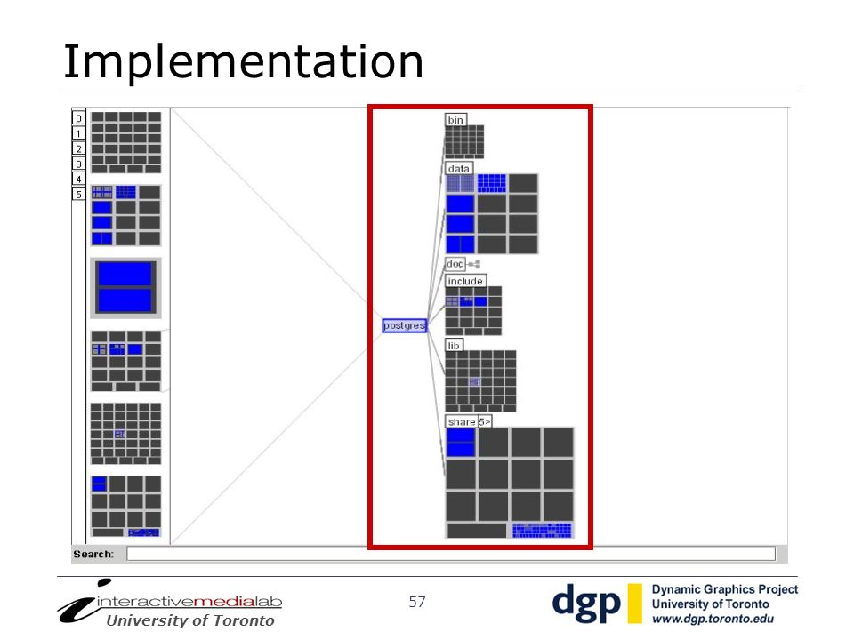 Implementation Within the panel, you can see the entired tree is drawn using a hybrid representation.