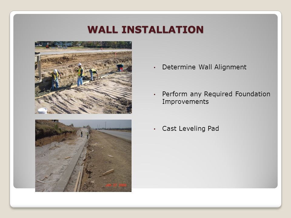 WALL INSTALLATION Determine Wall Alignment