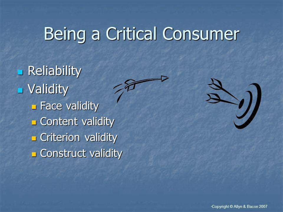 Being a Critical Consumer