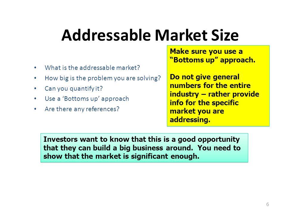 Addressable Market Size
