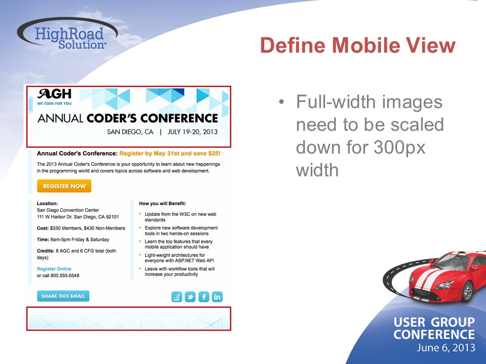 Define Mobile View Full-width images need to be scaled down for 300px width