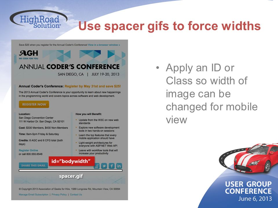 Use spacer gifs to force widths