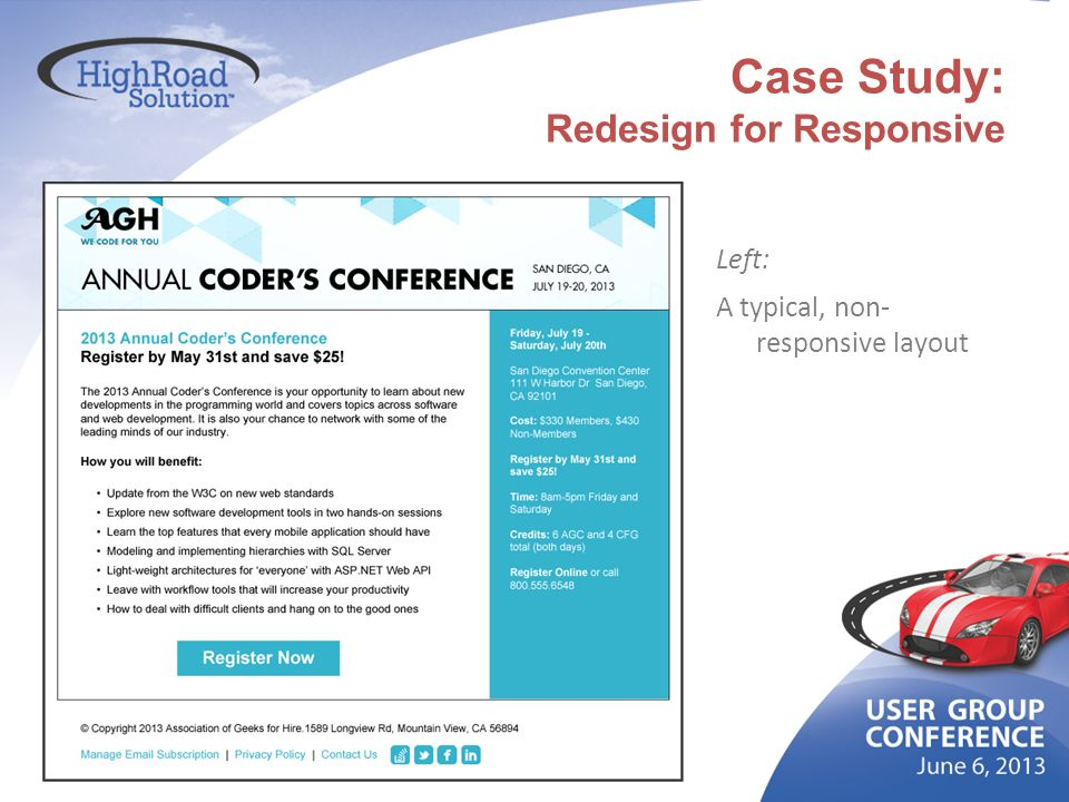 Case Study: Redesign for Responsive