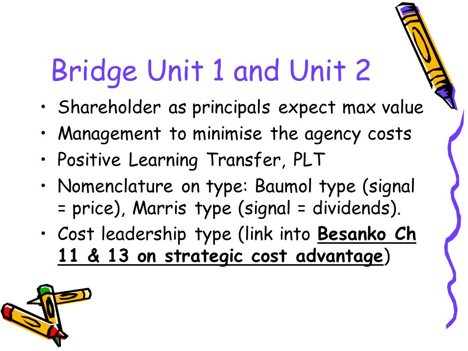 Bridge Unit 1 and Unit 2 Shareholder as principals expect max value