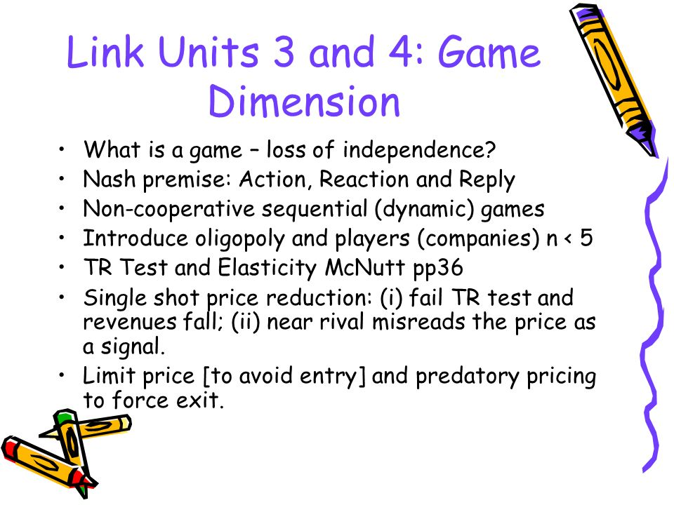 Link Units 3 and 4: Game Dimension