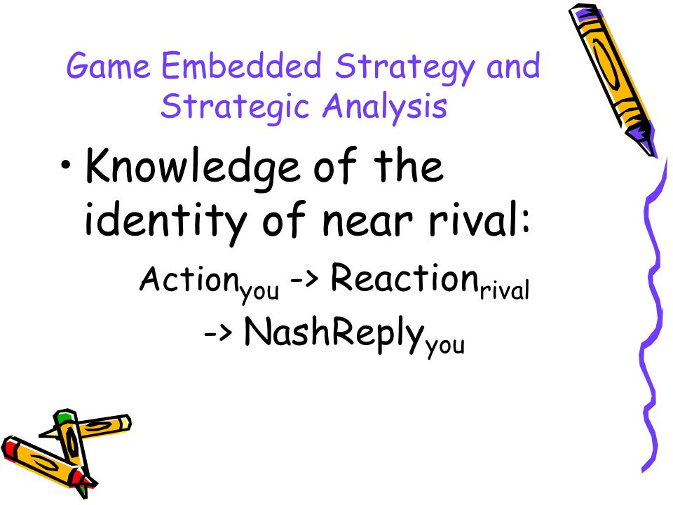 Game Embedded Strategy and Strategic Analysis