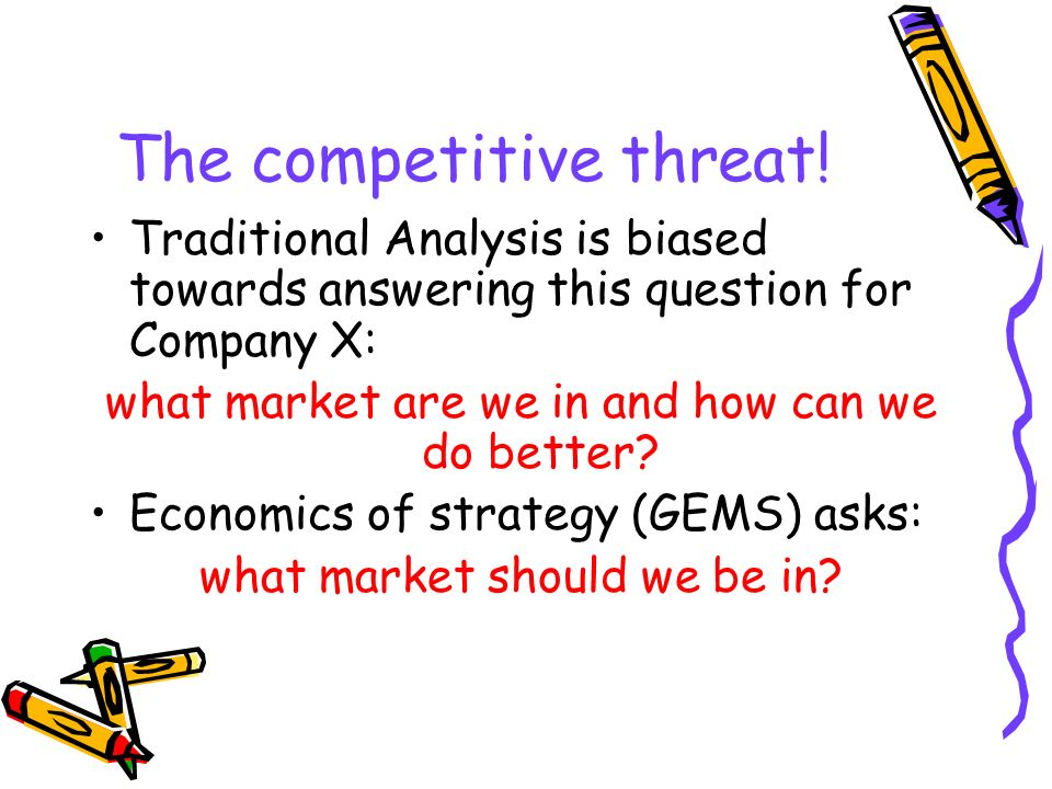 The competitive threat!