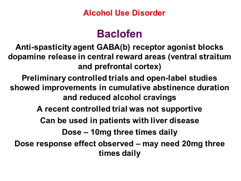 Baclofen Alcohol Use Disorder