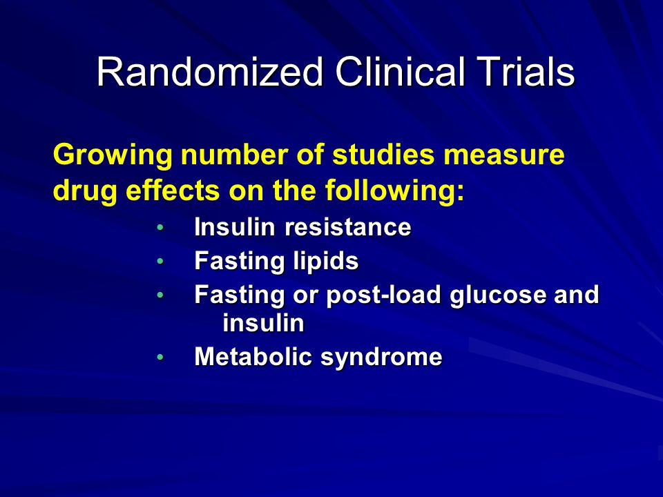 Randomized Clinical Trials