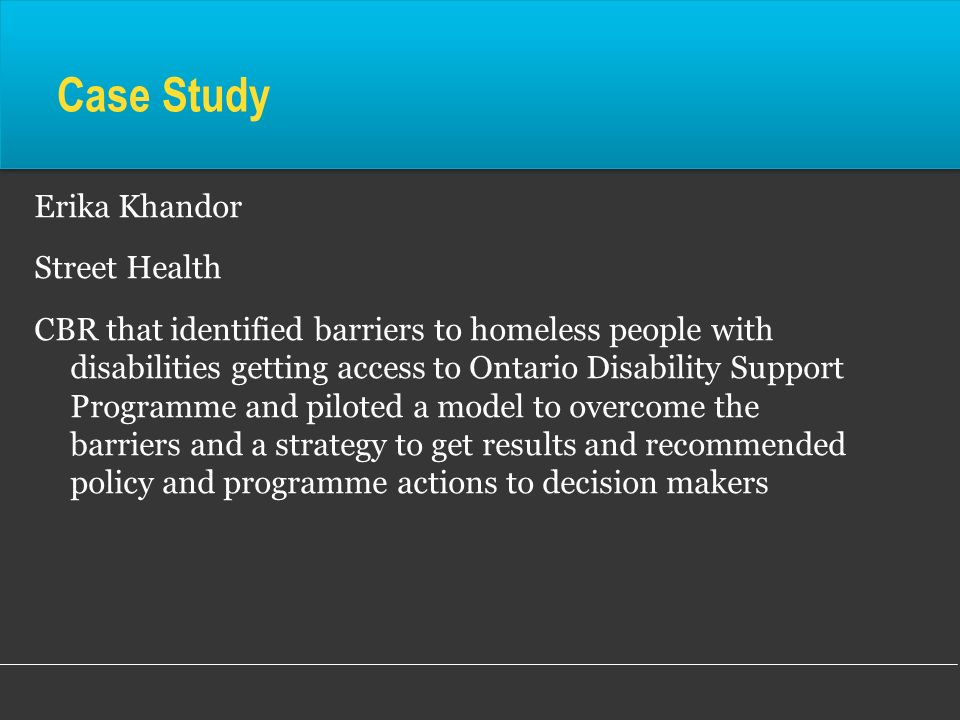 Case Study Erika Khandor Street Health
