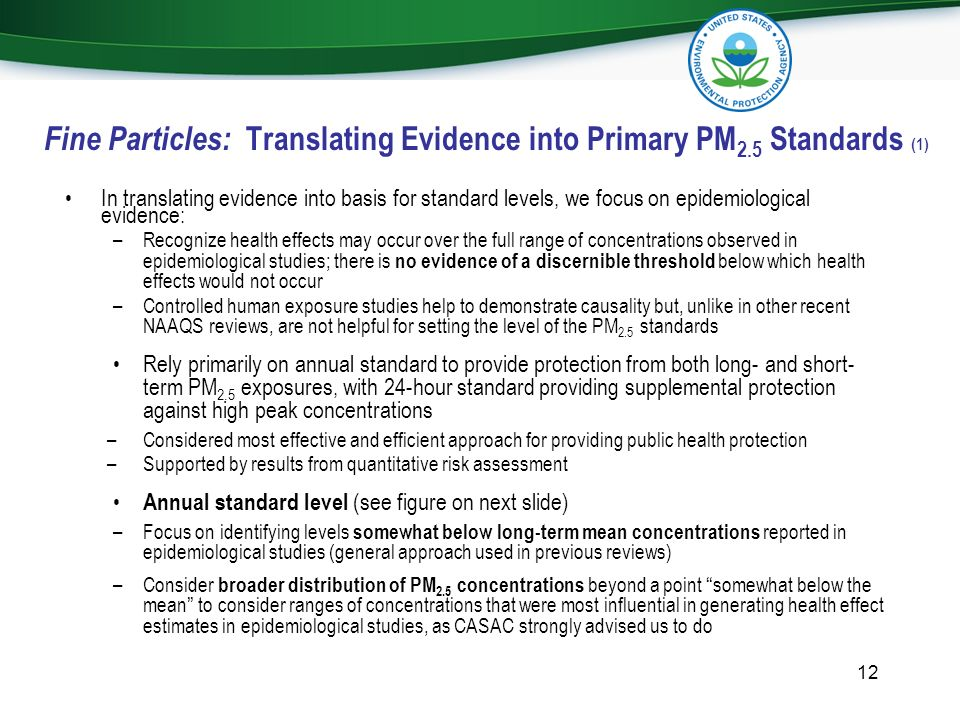 Fine Particles: Translating Evidence into Primary PM2.5 Standards (1)