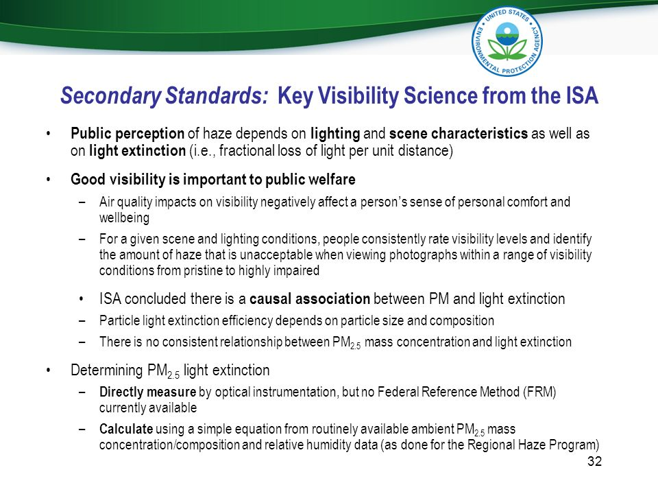 Secondary Standards: Key Visibility Science from the ISA