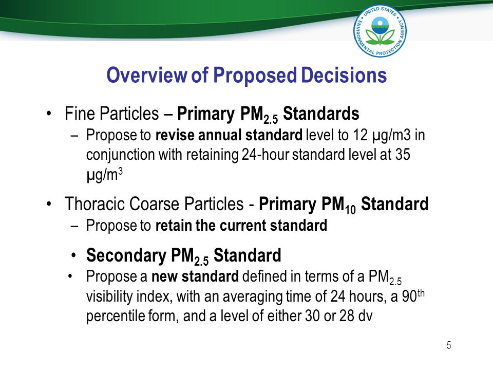 Overview of Proposed Decisions