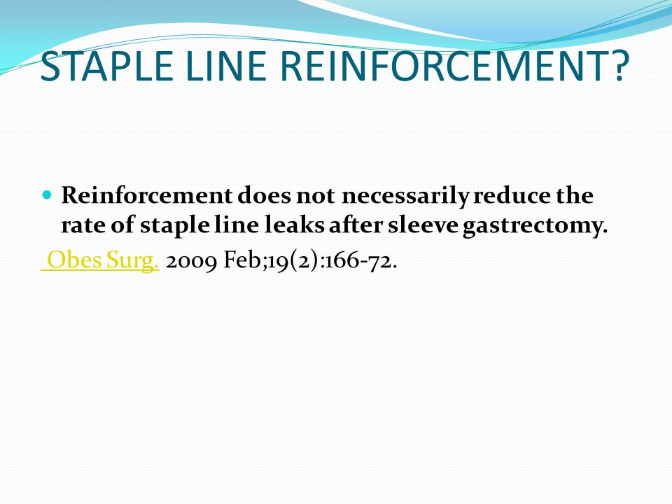 STAPLE LINE REINFORCEMENT