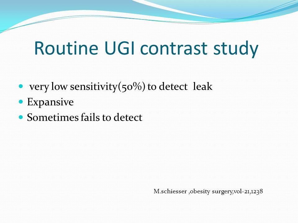 Routine UGI contrast study