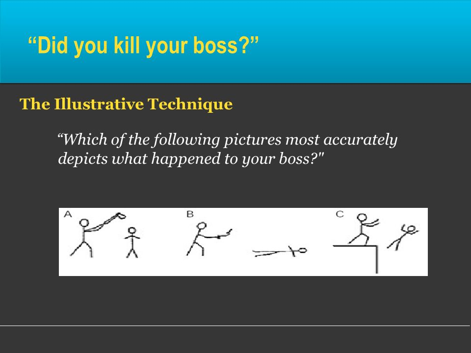 Did you kill your boss