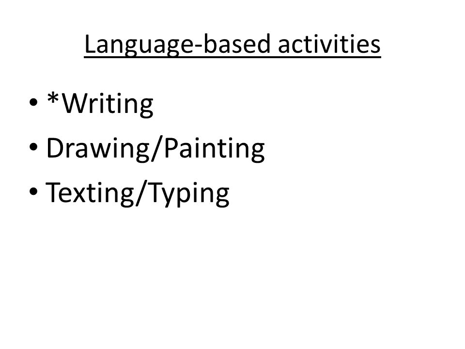 Language-based activities
