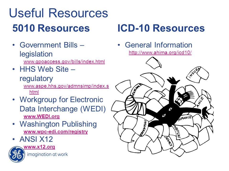 Useful Resources 5010 Resources ICD-10 Resources