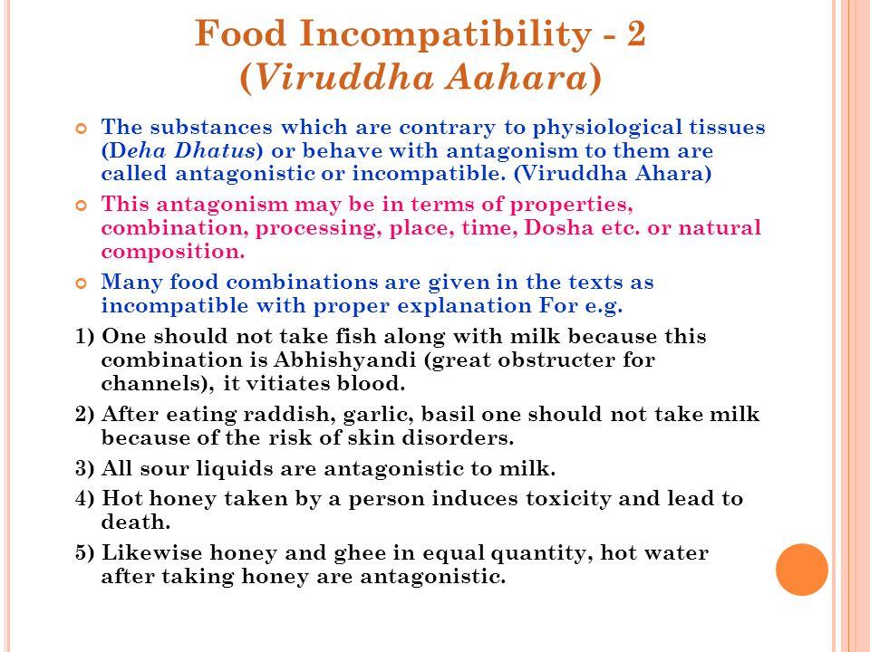Food Incompatibility - 2 (Viruddha Aahara)