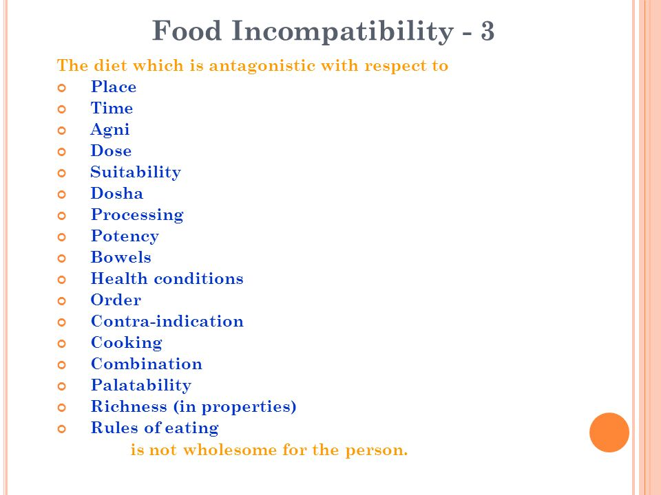 Food Incompatibility - 3