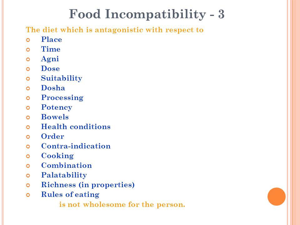 Food Incompatibility - 3