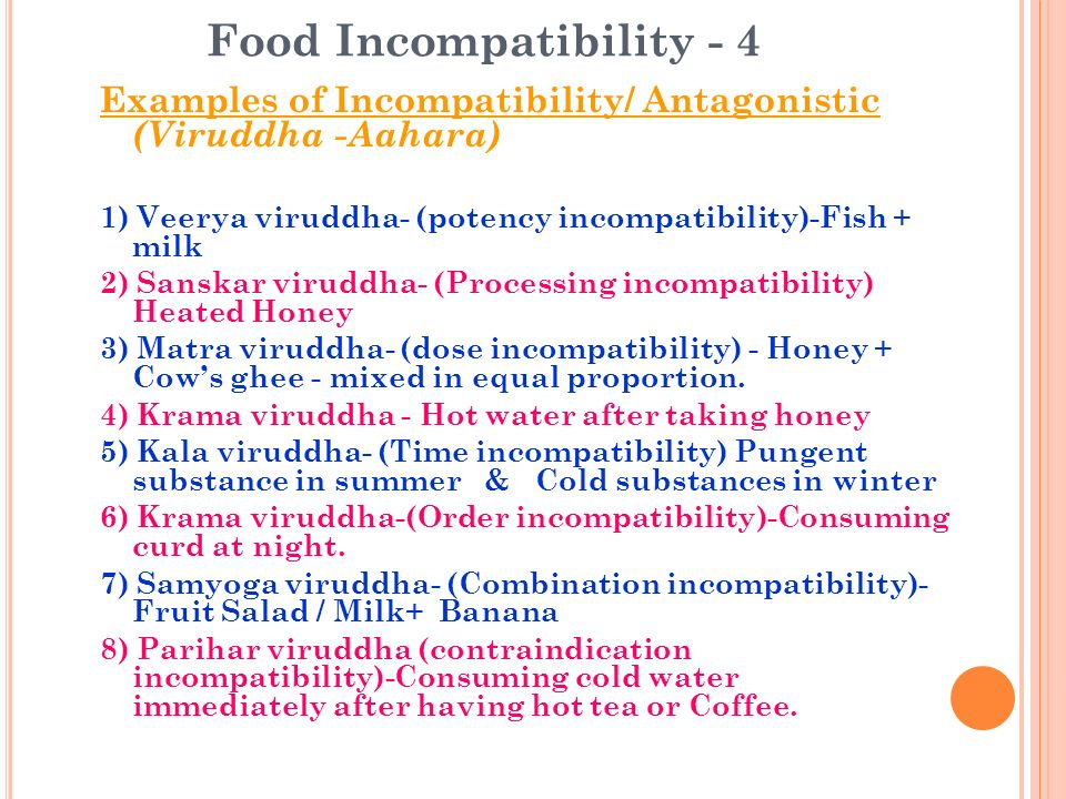 Food Incompatibility - 4