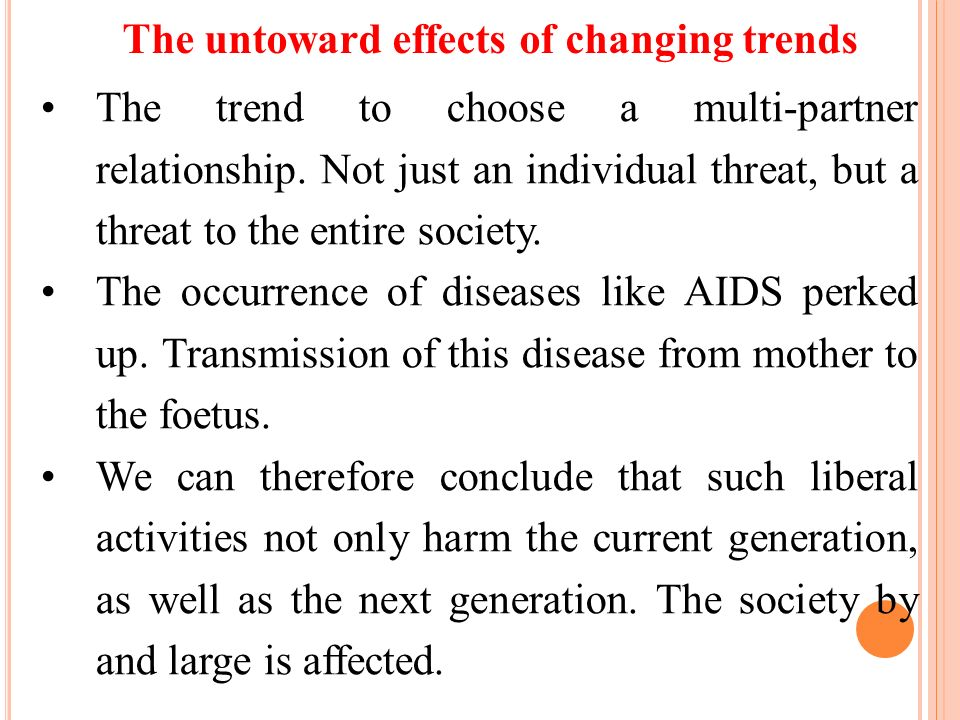 The untoward effects of changing trends