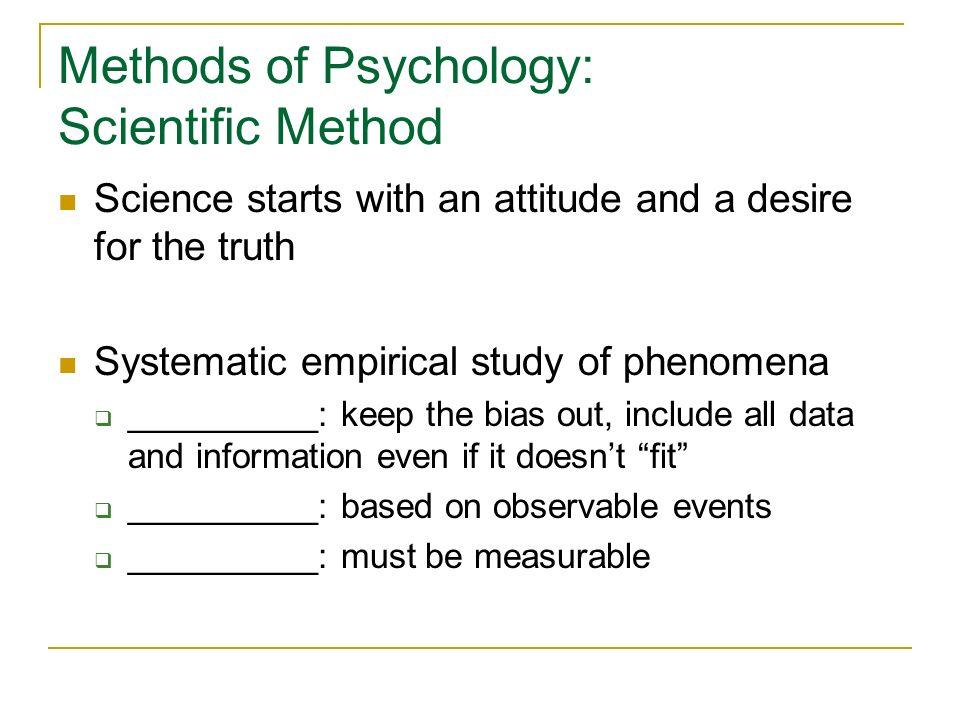 Methods of Psychology: Scientific Method