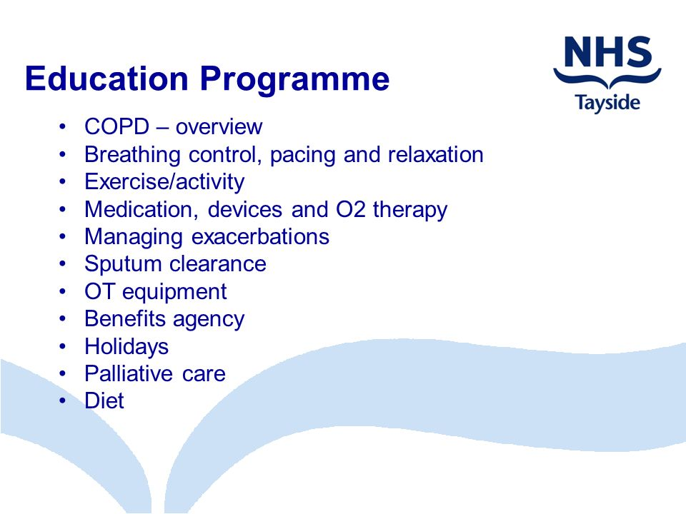 Education Programme COPD – overview
