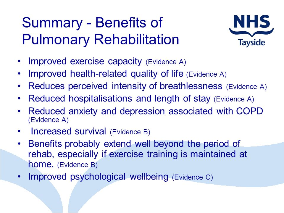 Summary - Benefits of Pulmonary Rehabilitation