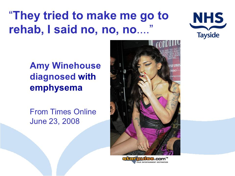 Amy Winehouse diagnosed with emphysema From Times Online June 23, 2008