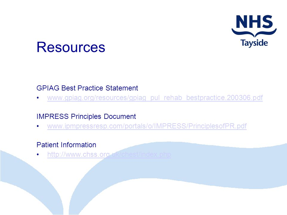 Resources GPIAG Best Practice Statement