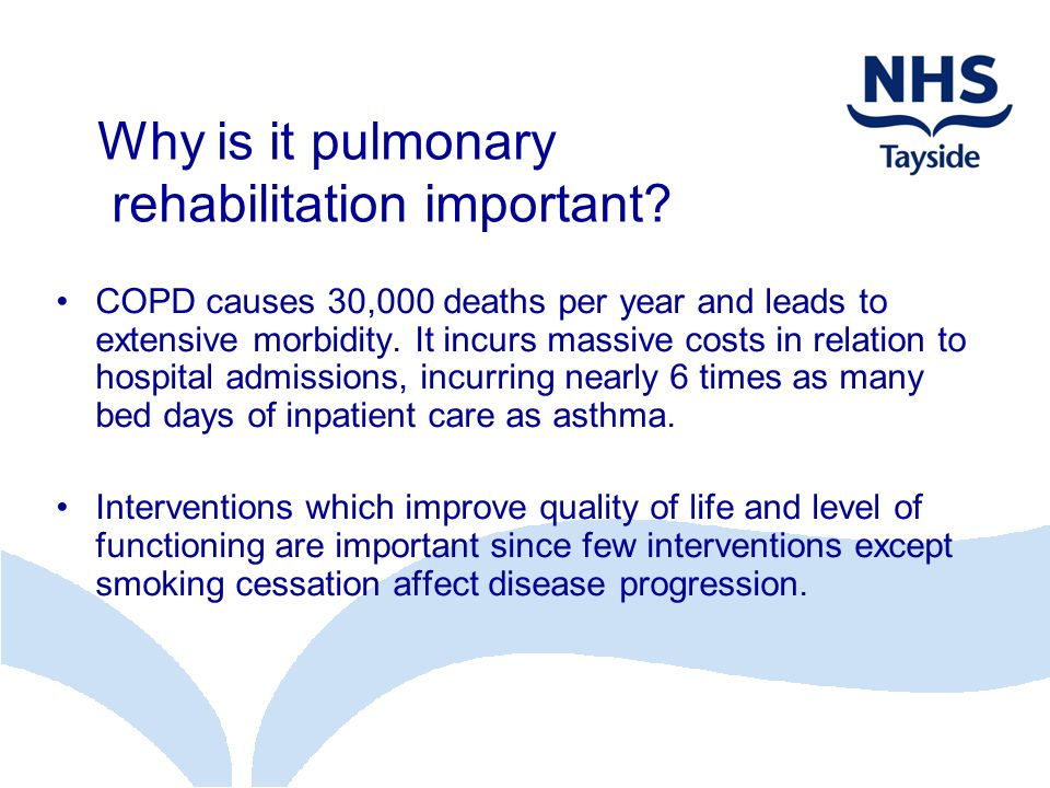 Why is it pulmonary rehabilitation important