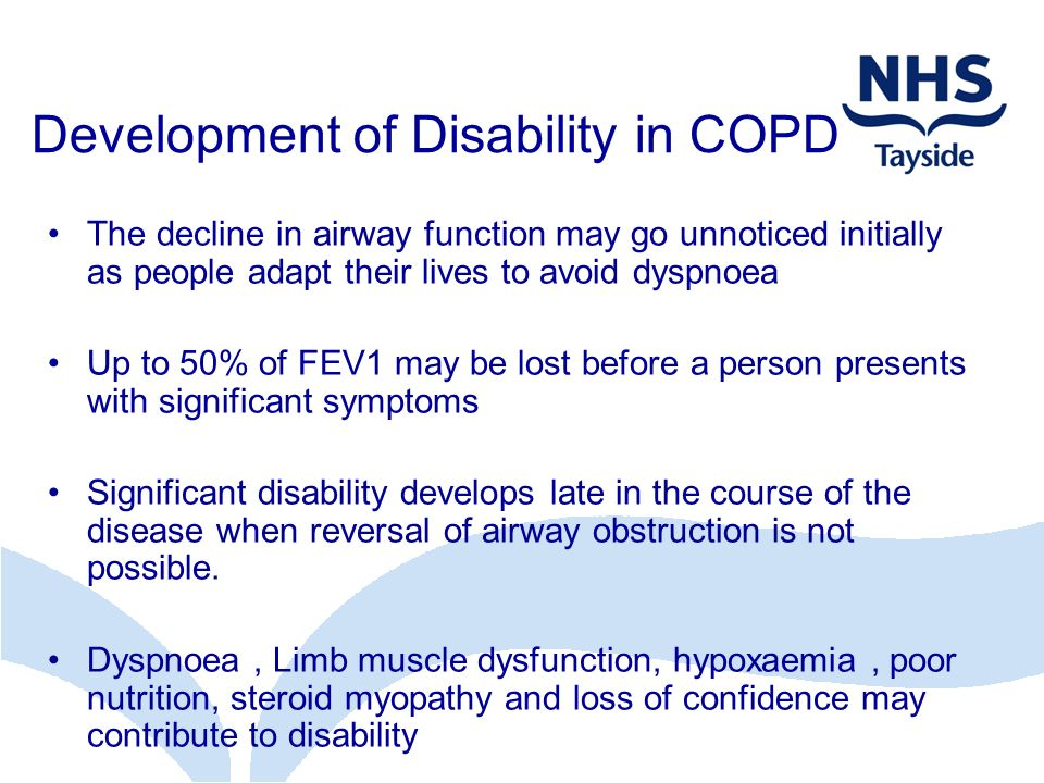 Development of Disability in COPD