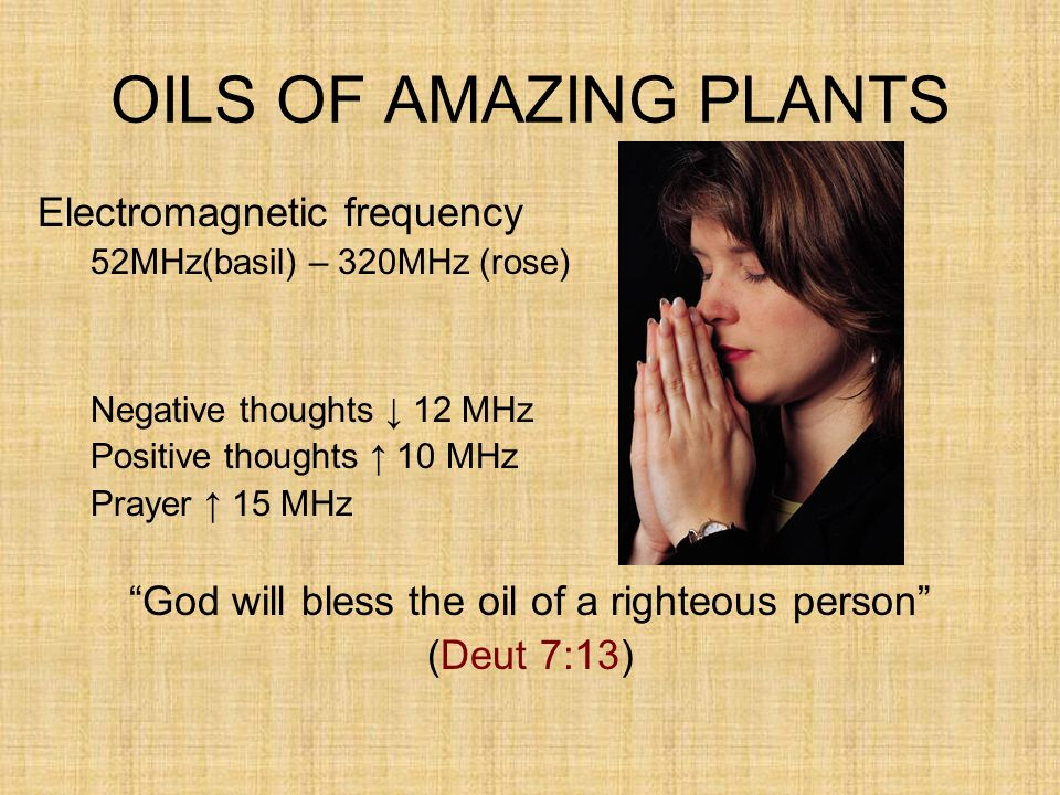 God will bless the oil of a righteous person