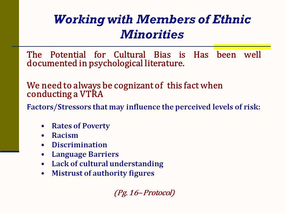Working with Members of Ethnic Minorities