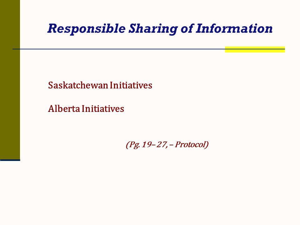 Responsible Sharing of Information
