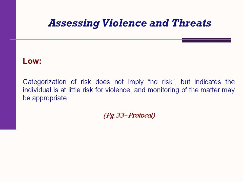 Assessing Violence and Threats