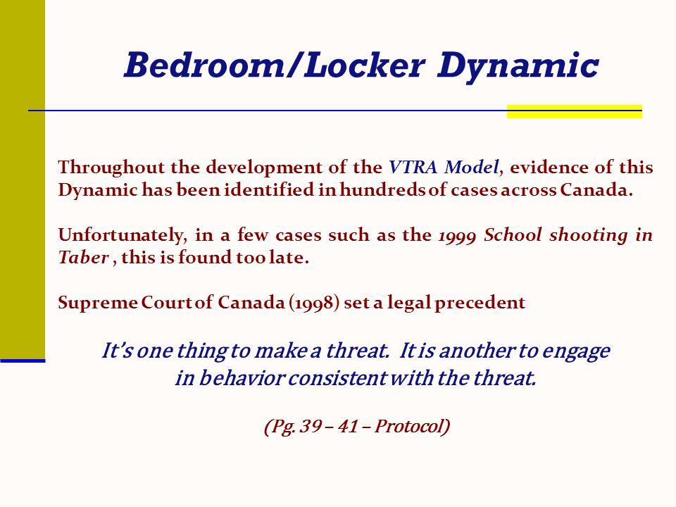 Bedroom/Locker Dynamic