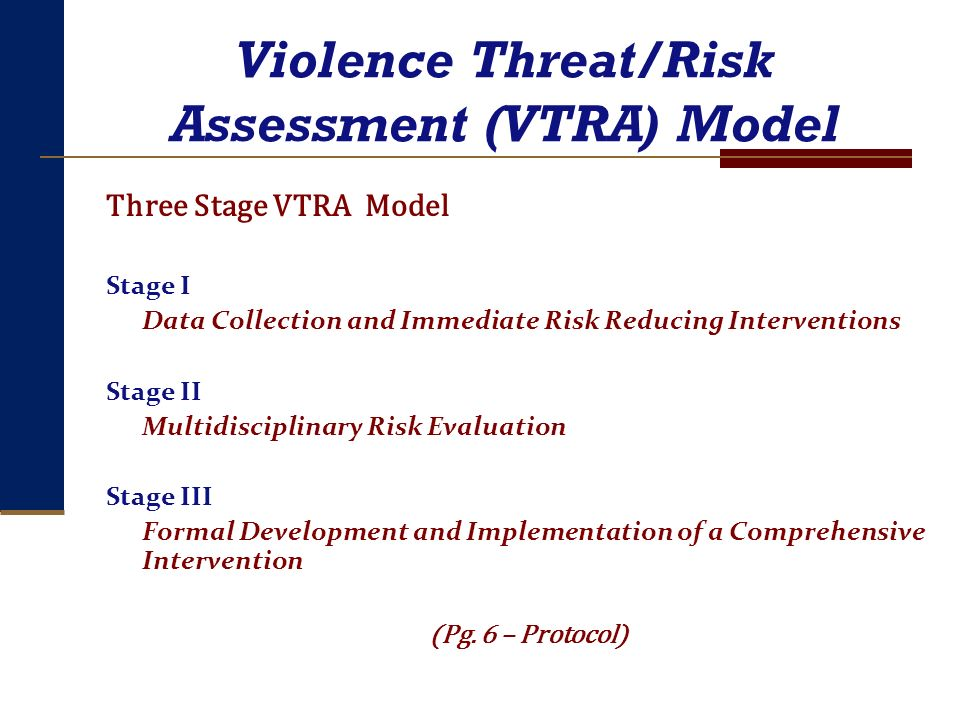 Violence Threat/Risk Assessment (VTRA) Model