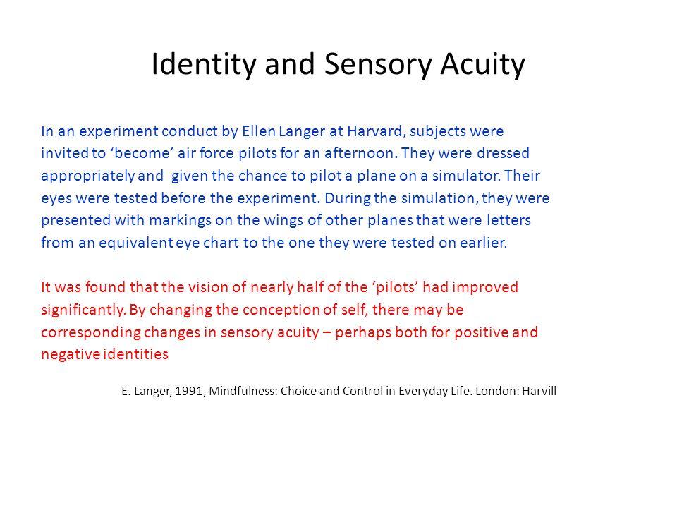 Identity and Sensory Acuity