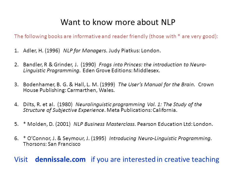 Want to know more about NLP