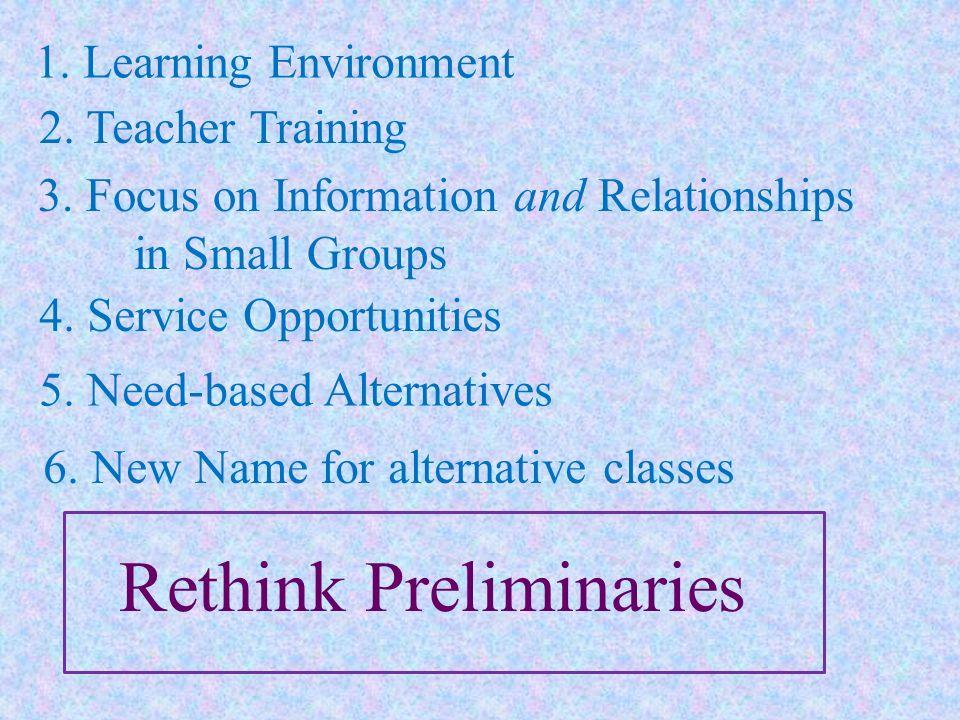 Rethink Preliminaries