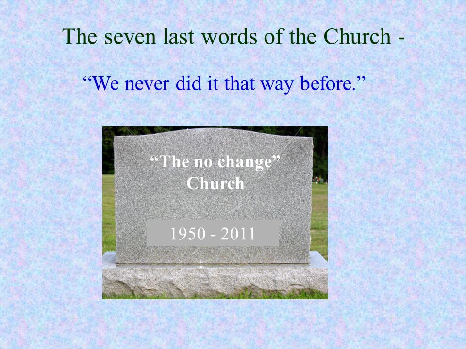 The seven last words of the Church -