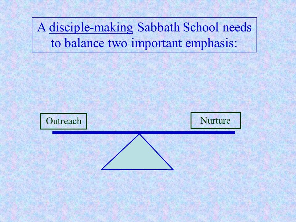 A disciple-making Sabbath School needs to balance two important emphasis:
