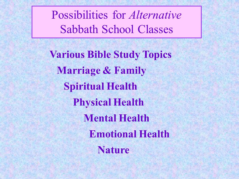 Various Bible Study Topics