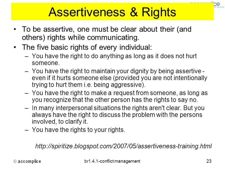 Assertiveness & Rights