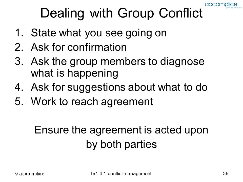 dealing with conflict at work pdf