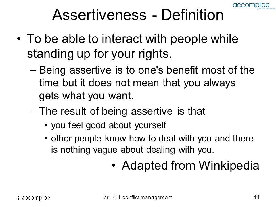 Assertiveness - Definition